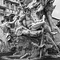 Fountain Of The Four Rivers In Rome by Gregory Dyer