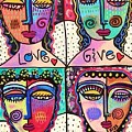 Four Gemstone Angels  by Sandra Silberzweig