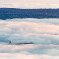 Freighter In The Clouds by Michael Russell