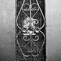 French Quarter Window To The Courtyard - Bw by Scott Pellegrin