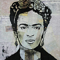 Frida Kahlo Press by Kathleen Artist PRO