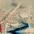 Fukagawa Lumberyards by Utagawa Hiroshige