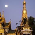 Full Moon In Burma by Michele Burgess