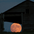 Full Moon Seen Through Old Building Window by Mark Duffy