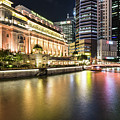 Fullerton Hotel And Financial District In Singapore by Didier Marti