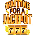 Gambler Waiting For A Jackpot 777 Gambling Fun by Kanig Designs