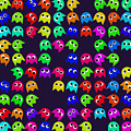 Game Monsters Seamless Generated Pattern by Miroslav Nemecek