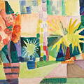 Garden On Lake Thun by August Macke