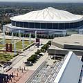 Georgia Dome In Atlanta by Anthony Totah