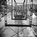 Ghost Bridge In Black And White  by Kelly Hazel
