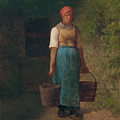 Girl Carrying Water by Jean-Francois Millet