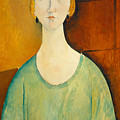 Girl In A Green Blouse by Amedeo Modigliani