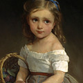 Girl With Basket Of Plums by Emile Munier