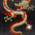 Golden Chinese Dragon Fucanglong  by Serge Averbukh