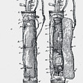 Golf Caddy Bag Patent 1905 by Claire  Doherty