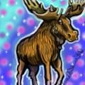 Graffiti Moose by Lori Teich