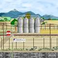 Grain Elevators At Ralston by Anne Norskog