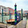 Grand Canal In Venice # 2 by Mel Steinhauer