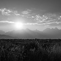 Grand Teton Hazy Sunset  by Michael Ver Sprill