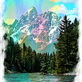 Grand Tetons From The Snake River by Margie Wildblood