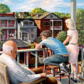 Grandpa's Back Porch by Edward Farber