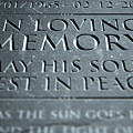Gravestone In Loving Memory by Allan Swart