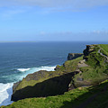 Green Grass On The Sea Cliff's In Ireland by DejaVu Designs