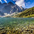 Green Water Mountain Lake Morskie Oko, Tatra Mountains, Poland by Mariusz Prusaczyk