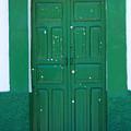 Green Wood Door by Robert Hamm