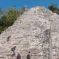 Grupo Nohoch Mul At The Coba Ruins  by Carol Ailles