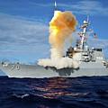 Guided Missile Destroyer Uss Hopper by Stocktrek Images