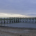 Gulf Beach Pier by Barbara Blanchard