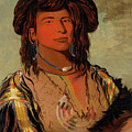 Ha-won-je-tah, One Horn, Head Chief Of The Miniconjou Tribe by George Catlin