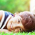 Happy Boy Outdoors by Anna Om