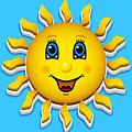 Happy Smiling Sun by Miroslav Nemecek