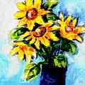 Happy Sunflowers  by Hae Kim