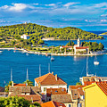 Harbor Of Vis Island Panorama by Brch Photography