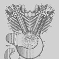 Harley Engine Patent From 1919 by Chris Smith