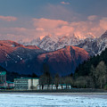 Harrison Hot Springs And Mount Cheam Range by Michael Russell
