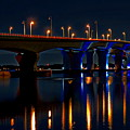 Hathaway Bridge At Night by Anthony Dezenzio