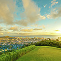 Hawaiian Sunset Tantalus Lookout by Benny Marty