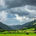 Hay Barns In Oberinntal, Pettneu Am Arlberg by Ludwig Riml