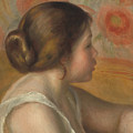 Head Of A Young Girl by Auguste Renoir