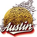 Congress Avenue Bridge Bats Take Flight In Austin Texas by Herronstock Prints