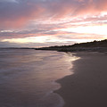 Highcliffe Beach At Sunset by Ian Middleton