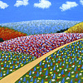 Hills Of Flowers by Frederic Kohli