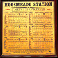 Hogsmeade Station Timetable by David Lee Thompson