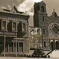 Holy Angel's Catholic Church Rectory  Belles Indian Saloon   The Great White Hope Set Globe Az 1969 by David Lee Guss