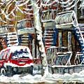 Achetez Les Meilleurs Peintures De Scenes De Montreal En Hiver Winter Scene Paintings by Carole Spandau