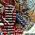 Escaliers De Montreal Ville De Verdun Best Original Montreal Paintings On Sale Peintures  by Carole Spandau